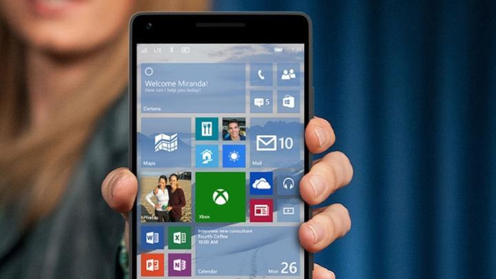 Windows 10 mobile güncellemesi yakında