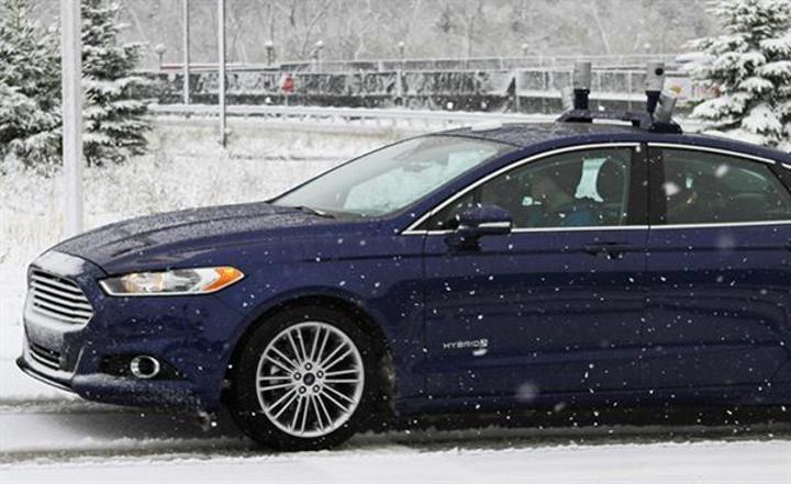 Ford, otonom aracıyla karlı yollara da çıktı