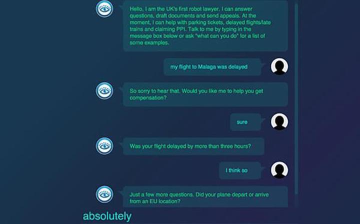 19 yaşındaki öğrenciden robot avukat