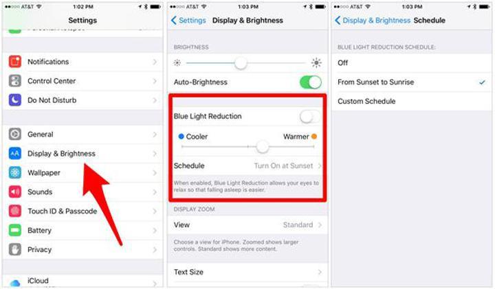iOS 9.3'de Night Shift özelliği nasıl aktif edilir?