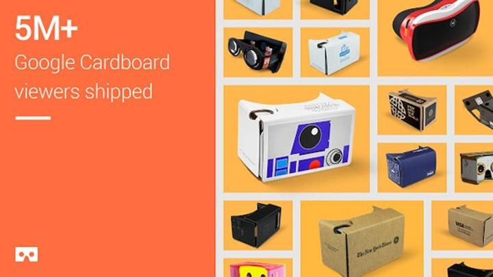 Google, 5 milyon Cardboard gözlüğü sattı