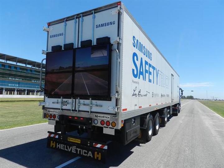 Samsung'un güvenli TIR konsepti Arjantin'de test edilecek