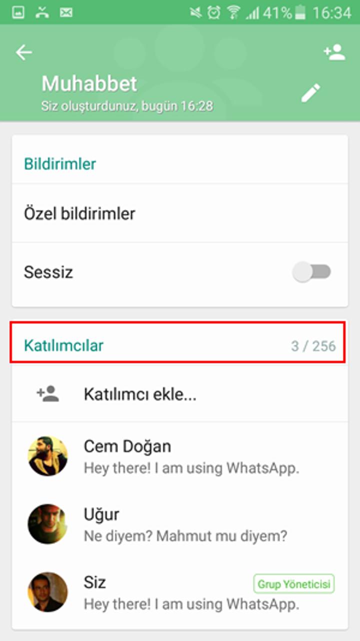 WhatsApp grup sohbetleri artık 256 kişiyi destekleyecek