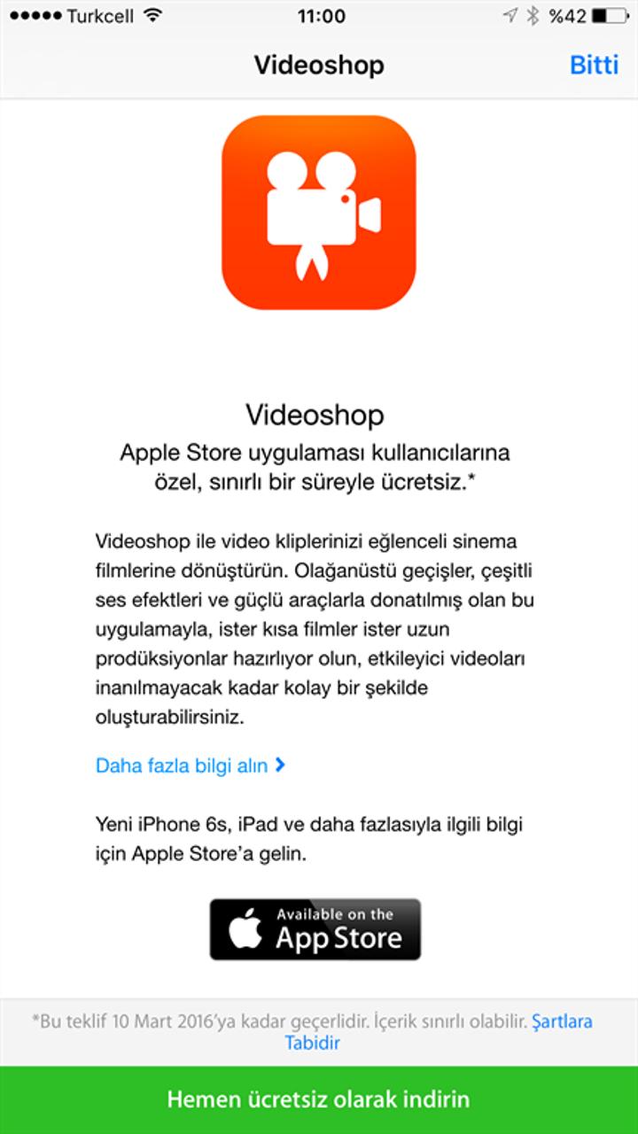 Videoshop uygulamasını 5,29TL ödemeden bedavaya indirin