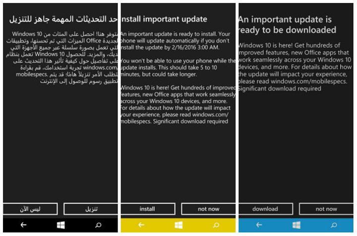 Windows 10 mobil güncellemesi başlıyor