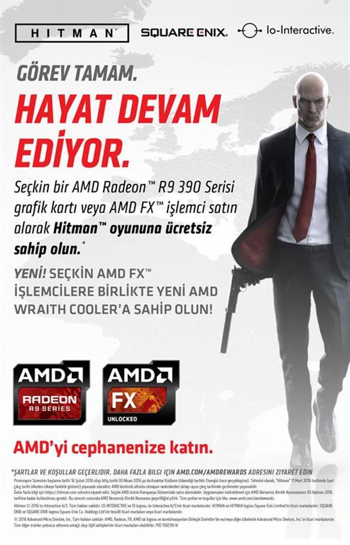 AMD'den Hitman oyun kampanyası