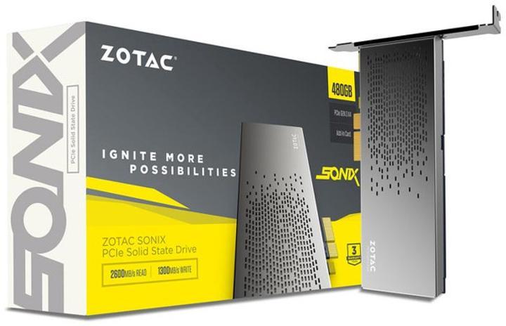Zotac SONIX 480GB PCIe SSD modeli duyuruldu