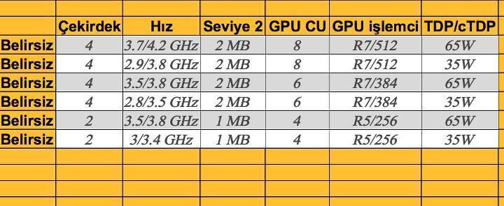 AMD Bristol Ridge APU ailesi sızdırıldı