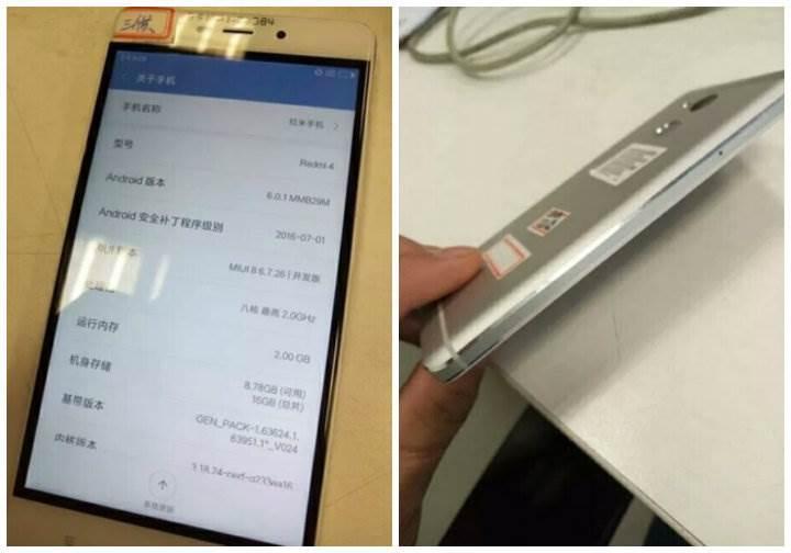 Xiaomi Redmi 4 sızdırıldı
