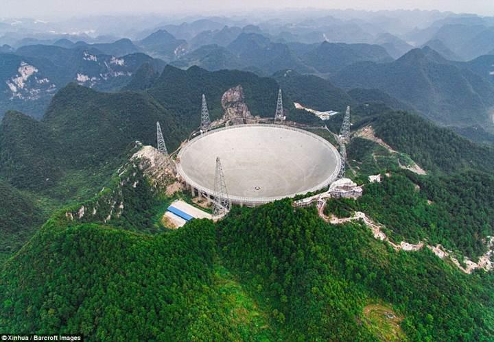 Çin, dünyanın en büyük radyo teleskobuyla uzaylı aramaya başladı