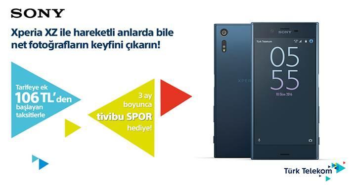 Sony Xperia XZ avantajlı paketi Türk Telekom'da
