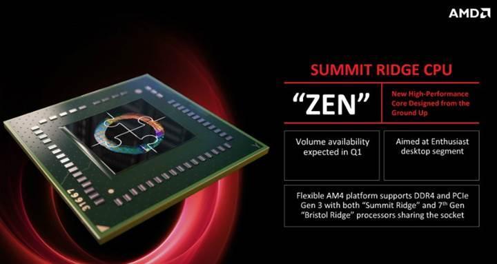 AMD Zen işlemciler 17 Ocak'ta geliyor