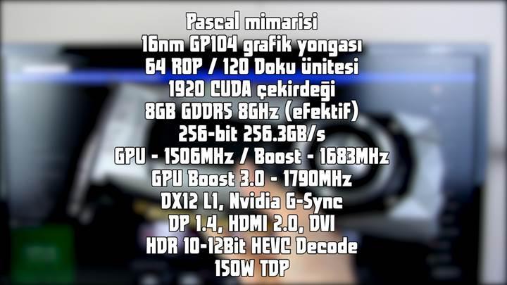 Nvidia GTX1070 Founders Edition incelemesi