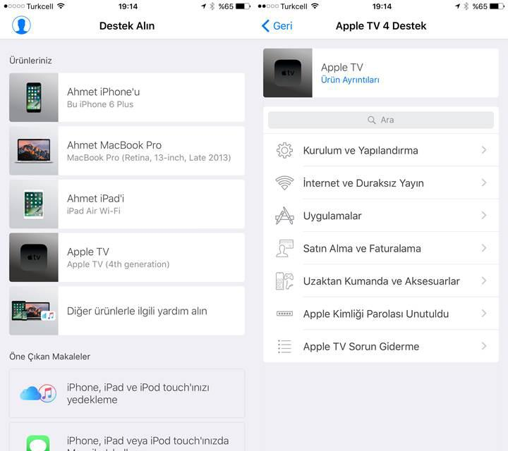 Apple Destek uygulaması Türkiye'de kullanıma sunuldu