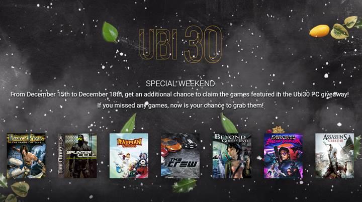 Ubisoft bu hafta sonuna özel tam 7 oyunu ücretsiz veriyor