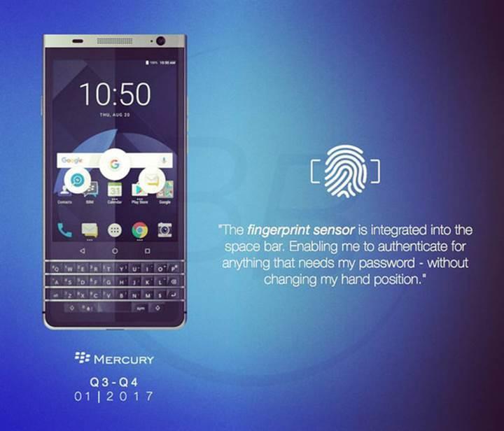 Kavisli ekranlı BlackBerry Mercury sızdırıldı