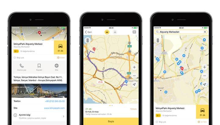 Yandex Haritalar'a sesli navigasyon ve yürüyüş yolları özelliği geldi
