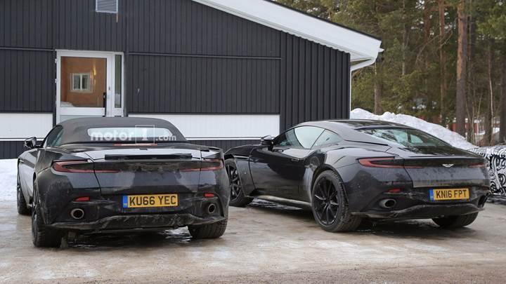 Aston Martin DB11'in üstü açık versiyonu yakından görüntülendi