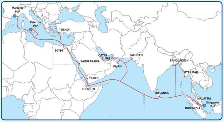 Türk Telekom deniz altı fiber kablo sistemi SEA-ME-WE 5'in lansmanını yaptı