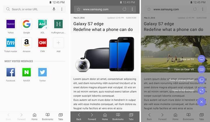 Samsung'un internet tarayıcısı artık Google Play Store'da