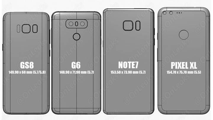 Samsung Galaxy S8 ve S8+ diğer amiral gemilerine kıyasla ne kadar büyük olacak?