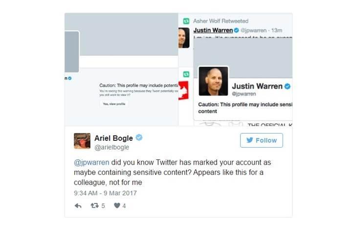 Twitter hassas içerikli hesapları işaretlemeye başlayacak