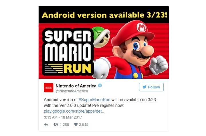 Super Mario Run'ın Android'e geliş tarihi netleşti