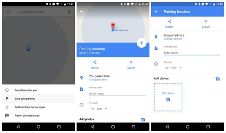 Google Maps artık aracınızı nereye park ettiğinizi hatırlayacak