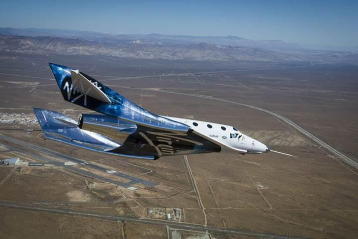 Virgin Galactic, yeni atmosfere dönüş sistemini test etti