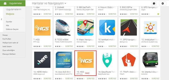 """Play Store'daki """"sahte HGS uygulaması"""" 4000 kişiyi etkiledi"""