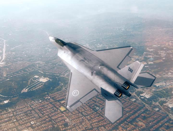 Milli Muharip Uçak TF-X'in ilk görüntüsü yayınlandı