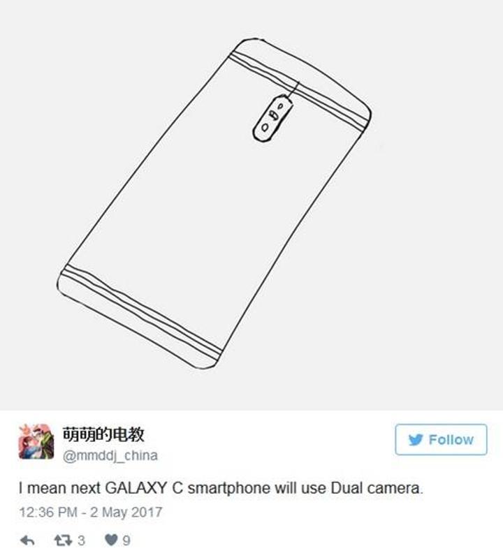 Samsung'un ilk çift kameralı telefonu Galaxy C10 olabilir