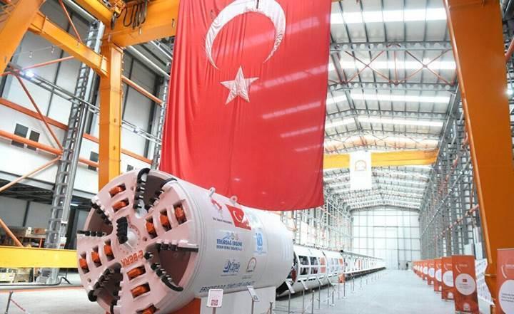 Türkiye tünel kazma makinesi üreten 8. ülke oldu