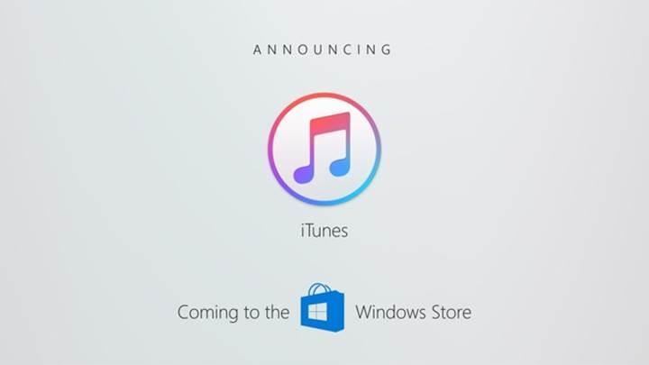iTunes yazılımı Windows Store'a geliyor