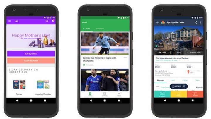 Android Anlık Uygulamalar erişime açıldı