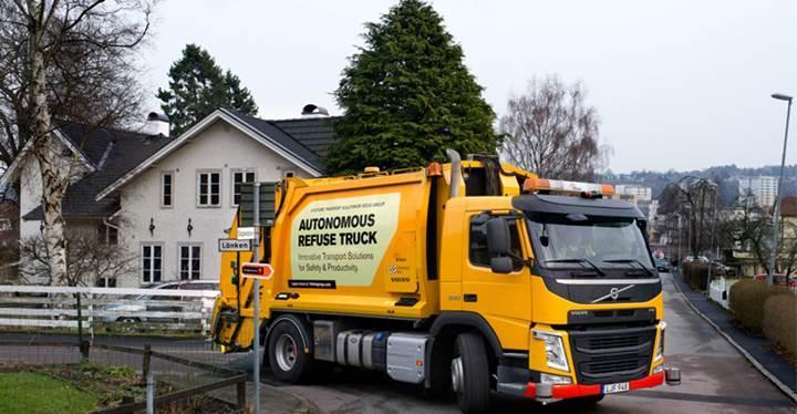 Sürücüsüz çöp kamyonları geliyor