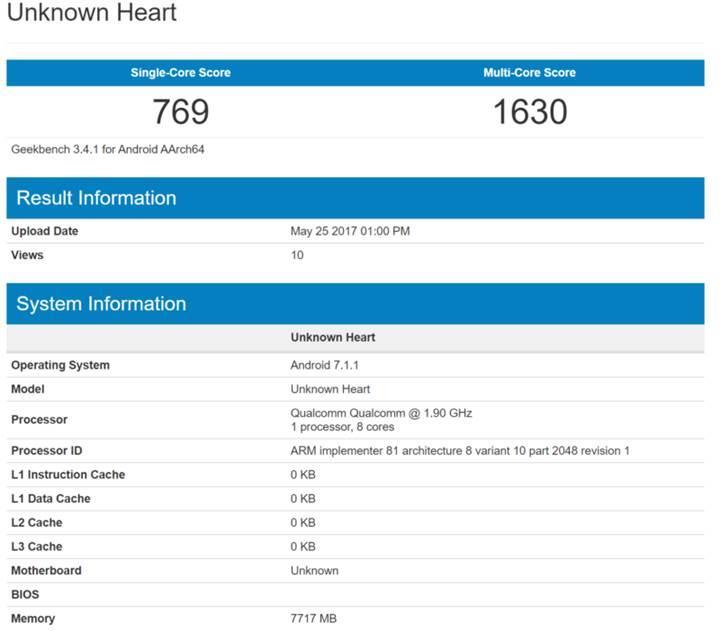 Nokia 9 için 8GB RAM iddiası