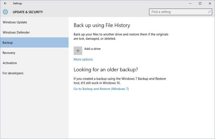 Windows 10'un File History özelliği yakın zamanda tarih olabilir