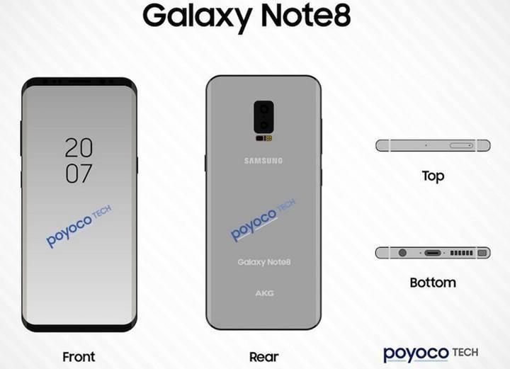 Samsung Galaxy Note 8 yine yaz sonlarında gelebilir
