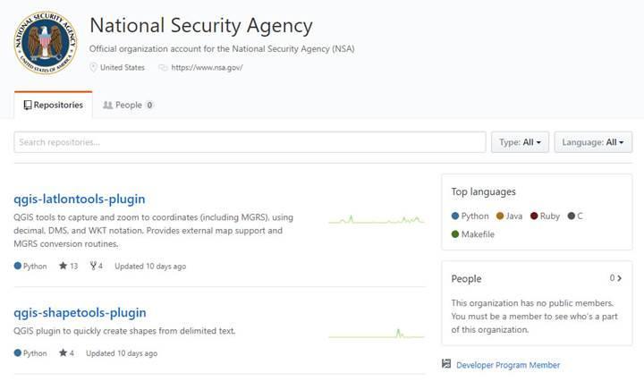 NSA şimdi de Github hesabı açtı