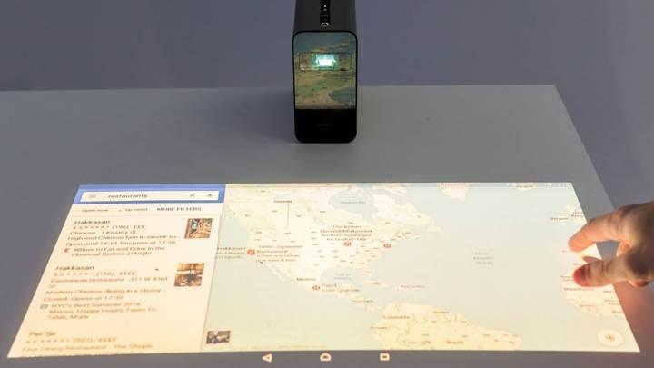Yansıdığı alanı dokunmatik hale getiren projeksiyon cihazı Avrupa'da