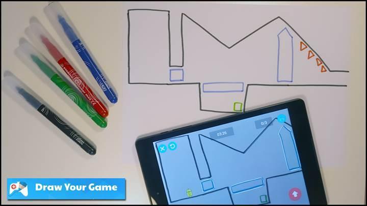 Oyununuzu kağıda çizin ve telefonunuzda oynayın