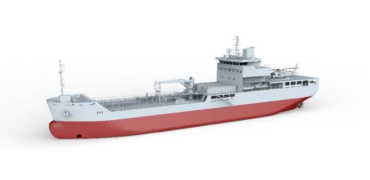 Lojistik Destek Gemisi denize iniyor