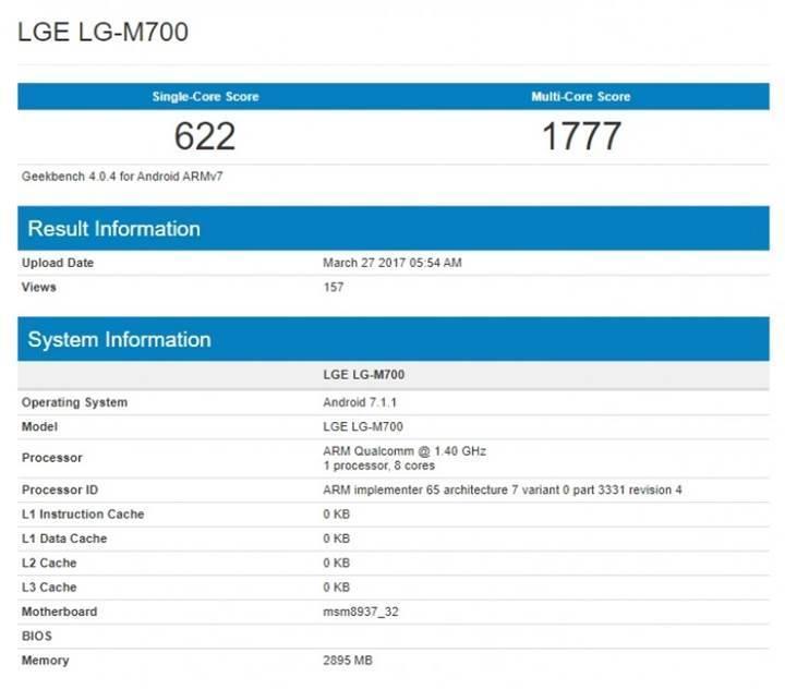 LG Q6'nın Geekbench sonuçları paylaşıldı