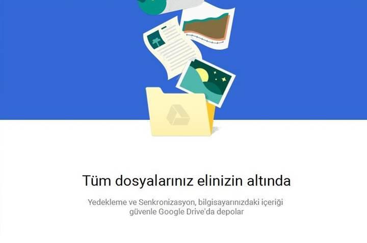 Google'ın Yedekleme ve Senkronizasyon uygulaması yayında