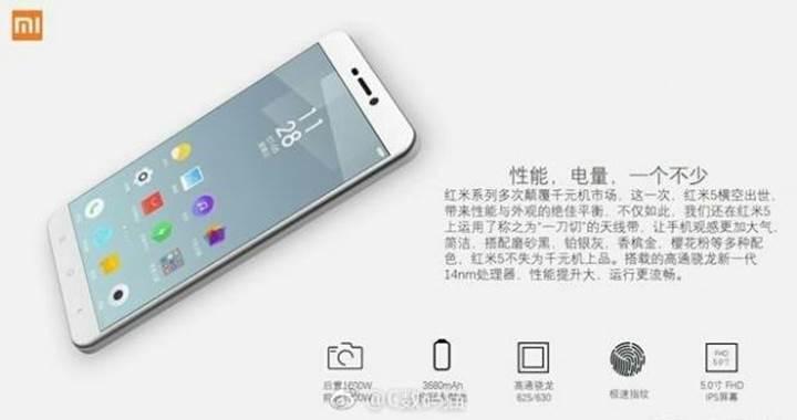 Xiaomi Redmi 5 serisinin detayları belli oluyor