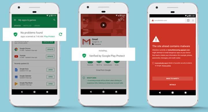 Google Play Protect, Android cihazları zararlı yazılımlardan koruyacak