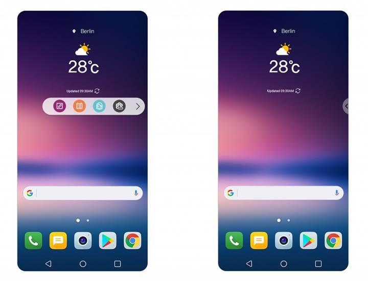 LG V30'da ikinci ekranın yerine gelecek konsept ortaya çıktı