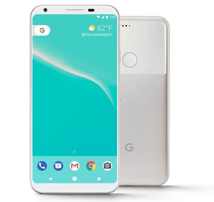 Google Pixel 2 kenar sensörlerine sahip olacak