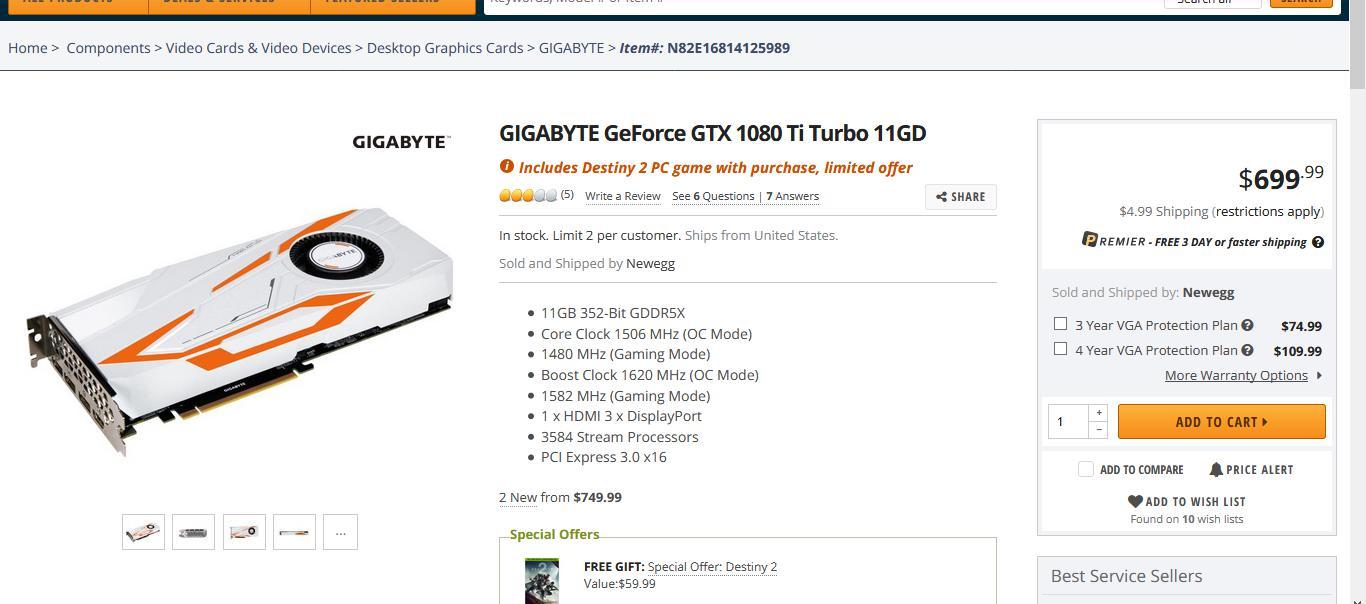 RX Vega 64 fiyatları GTX 1080 Ti'ı geçti!   DonanımHaber